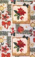 Vánoční papír - Vánoční růže s mašlí č.3 - Lika - 150 ks