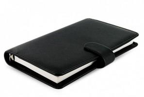Diář Filofax Saffiano - Compact - černá - 022469