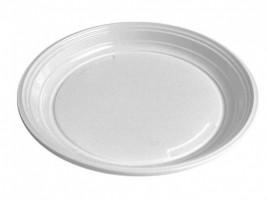 Talíř bílý (PP) O 22 cm