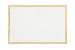 Magnetická tabule bílá, 60 x 90 cm - dřevěný rám - BI-2010
