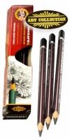Tužka grafitová kreslířská 2B 3HR  KOH-I-NOOR 183102B001KS