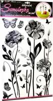Samolepka na zeď - jemné květy - 10086