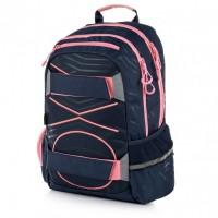 Studentský batoh - Oxy Sport - Pastel Line Pink - Karton P + P - 7-98419