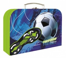 Kufřík lamino 34 cm - Karton P+P - Fotbal - 3-86819