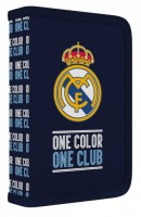 Školní penál 1 patrový - 2 chlopně - Real Madrid - bez náplně - Karton P+P - 1-54519