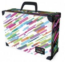 Kufřík lamino hranatý, okovaný - Karton P+P - Stripes - 5-67219