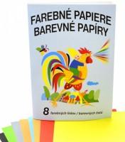 Pestrobarevné papíry A4 8 listů - Notes