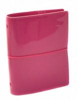 Diář Filofax Domino Patent - kapesní - růžová - 022480