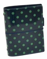 Diář Filofax Domino Patent - kapesní - tmavě zelená - 022516