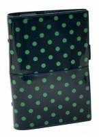 Diář Filofax Domino Patent - osobní - tmavě zelená - 022517