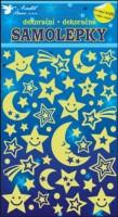 Samolepky svítící ve tmě - Noční obloha - 10103