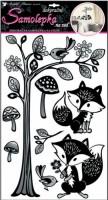 Dekorační samolepka na zeď - Strom s liškami - 10145