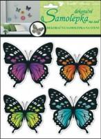 Samolepky na zeď 3D - Motýli neonoví - 4 ks - 10151