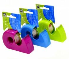 Stolní odvíječ s lepící páskou 19 mm x 10 m - různé barvy
