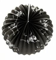 Lampion Halloween kulatý s kostlivci 25 cm - 000438