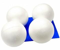 Koule polystyren 15 cm - 4 ks