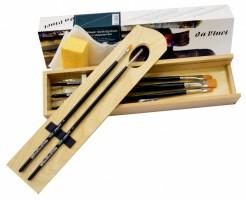 Dřevěný box Da Vinci Nova - štětce pro olejomalbu - 5243