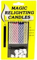 Dortové svíčky magické, nesfouknutelné 10 ks - PK106-7