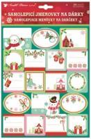 Samolepky na dárky - s glitry - 10383