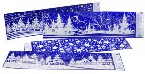 Okenní fólie - Vánoční krajina 467