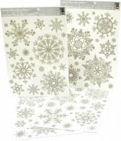 Okenní fólie - Vločky, sněhový efekt 463