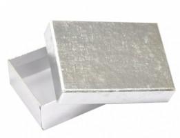 Dárková krabička B1 Lux - stříbrná - 10 x 7 x 3 cm