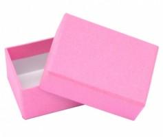 Dárková krabička B0 - růžová - 7,5 x 5,5 x 3,5 cm