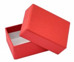 Dárková krabička B0 - červená - 7,5 x 5,5 x 3,5 cm