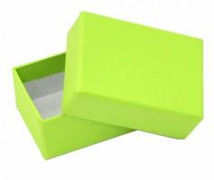 Dárková krabička B0 - zelená - 7,5 x 5,5 x 3,5 cm