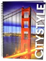 Kroužkový blok A4 lamino  - Golden Gate 7-393