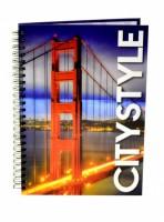 Kroužkový blok A5 lamino  - Golden Gate 7-387