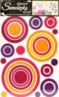 Pokojová dekorace růžové kruhy - 70 x 42 cm - 1057