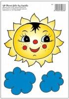 Okenní fólie sluníčko s mráčky 808