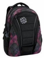 Studentský batoh Bagmaster - Bag 6 E - Black/Pink/Violet