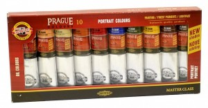 Souprava olejových barev Prague 10 x 40 ml -  Portrét - 01617S1003 - Koh-i-noor