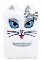 Plyšový deník - Bílá kočka - 1225-0