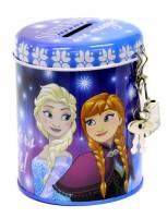 Pokladnička kovová kulatá se zámečkem - Frozen  - 342811