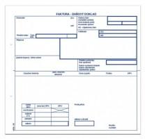 Faktura 2/3 A4 s tabulkou DPH propisující mSk 39