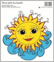 Okenní fólie - Sluníčko na mráčku - 20 x 20 cm - 800