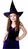 Karnevalový kostým - Čarodějnice/Halloween s kloboukem, vel. M - 850910