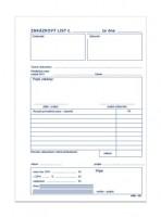 Zakázkový list A5 propisující mSk 351
