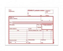 Příjmový pokladní doklad A6 číslovaný mSk 46