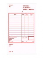 Účtenka za hotové daňový doklad nečíslovana mSk 66