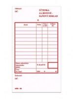 Účtenka za hotové daňový doklad propisující nečíslovaná mSk 65
