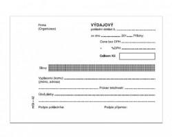 Výdajový pokladní doklad jednoduchý A6 mSk 42