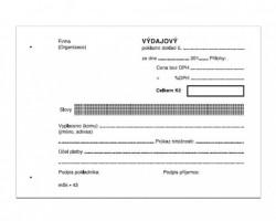 Výdajový pokladní doklad jednoduchý A6 propisující mSk 43