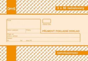 Přijmový pokladní doklad propisující nečíslovaný Optys 1091