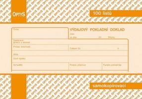 Výdajový pokladní doklad propisující Optys 1083