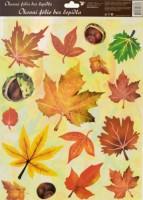Okenní fólie - podzimní listí 38 x 30 cm - 872