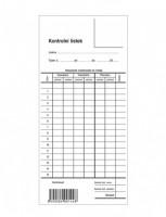 Kontrolní lístek píchačka Optys 1144
